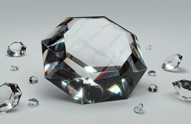 Diamanten Tischdeko