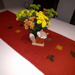Herbstdekoration Esszimmertisch