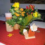 Tischdekoration mit Fuchs